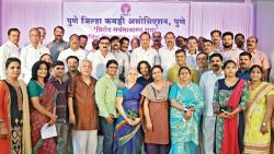 Ajit Pawar (centre) with newly elected members