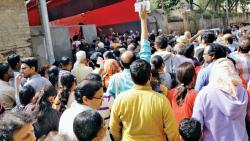Pune music lovers line up outside Sawai venue