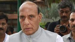 Rajnath Singh celebrates Dussehra with BSF jawans; performs 'shastra puja'