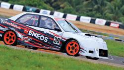 Arjun Balu in action during the second round of the MRF MMSC FMSCI Indian National Racing Championship