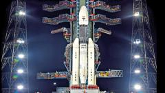 GSLV rocket carrying India's moon mission Chandrayaan-2 lifts