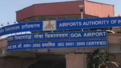 Goa airport services suspended for 2 hours
