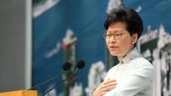 Hong Kong Chief Executive Carrie Lam speaks during a press conference at the government headquarters in Hong Kong on June 15, 2019. AFP Photo