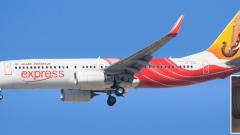 Air India plane survives disaster after hitting wall