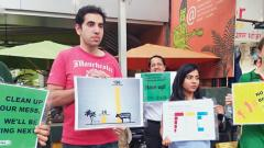 Protest against lack of action on climate change held in city