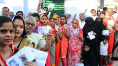 Over 57 pc polling till 7 pm in PM's constituency Varanasi