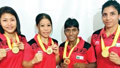 Mary Kom and Simranjit win gold