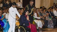 Deepa Malik basks in Khel Ratna glory, Bajrang misses ceremony