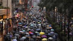 Tens of thousands flood Hong Kong park for latest rally