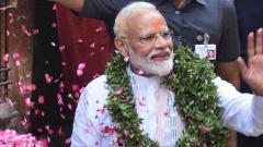 Accompanied by top NDA leaders, Modi files nomination for Varanasi LS seat