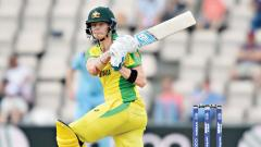 ustralia's Steve Smith bats during the 2019 Cricket World Cup warm up match against England at the Rose Bowl in Southampton, southern England, on Saturday.