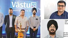 Sakal Vastu Expo, organised by Sakal Media Group, was inaugurated on Saturday. (From left) Amit Modgi, Avinash Tiwari, Arpan Chatterjee and GP Singh.