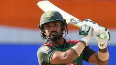 Bangladesh batsman Liton Das plays a shot during the start of the final one day international (ODI) Asia Cup cricket match between Bangladesh and India at the Dubai International Cricket Stadium in Dubai on Friday.