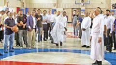 St Vincent's HS gets Int'l standard basketball court