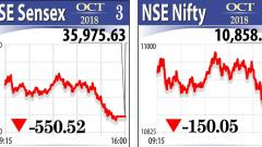 Sensex crashes 550 pts on rupee woes, rising crude concerns