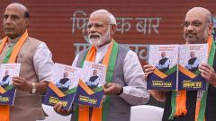 LokSabha 2019: BJP releases manifesto; promises to build Ram temple, announces slew of welfare schemes