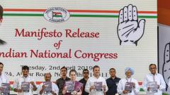 LokSabha 2019: Cong releases poll manifesto with focus on jobs, farmers, Nyay