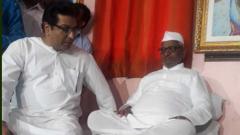 Raj Thackeray, water activist Rajendra Singh meet Hazare