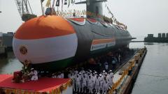 Navy launches 4th Scorpene-class submarine Vela