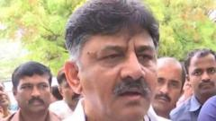 Shivakumar prevented from entering hotel where rebel MLAs put up