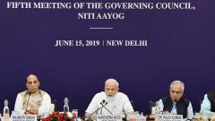 Prime Minister Narendra Modi chairs the fifth meeting of the Governing Council of NITI Aayog, in New Delhi, on June 15, 2019. PIB/PTI Photo
