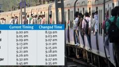Railways change timing of Lonavla-Pune local