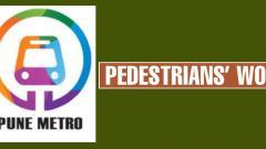 Work of MahaMetro obstructing footpaths