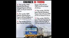 Railways changes train timetable from July 1
