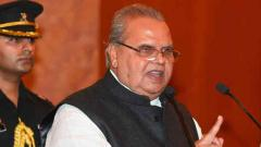Satya Pal Malik urges militants in J-K to give up arms, invites them for talks