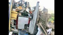 5 dead as bus rams into truck
