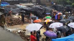 12 killed in Mumbai wall collapse after overnight downpour