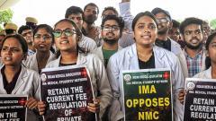 Resident doctors in Delhi boycott work;hold marches against NMC bill