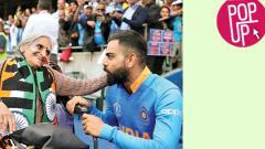 Team India's oldest fan girl
