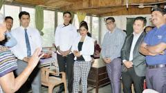 Marriott team visits old age home