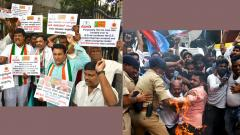 Shivkumar's arrest: Protesting Youth Cong workers detained