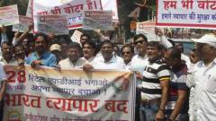 Traders protest against retail FDI