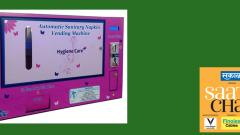 Sanitary pad vending machine for women