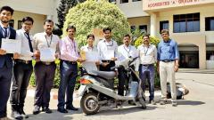 Students transform old 2-wheeler into e-vehicle