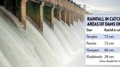 Water levels in Pune dams rise after continuous rains