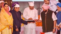 Vice president, Punjab CM lay foundation stone for Kartarpur Sahib corridor