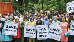 Activists protest amendments in RTI Act
