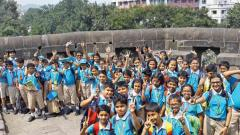 Students of Orbis School visit the historical Shaniwarwada