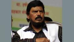 Union minister Ramdas Athawale slapped at public event in Maharashtra