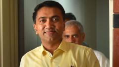 Goa CM drops 4 ministers from cabinet