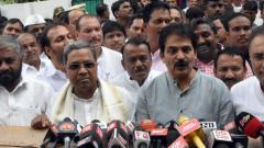 Cong ministers in K'taka resign voluntarily to enable cabinet reshuffle