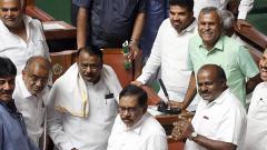 Kumaraswamy moves confidence motion, high drama marks debate
