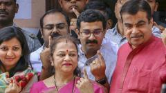 LokSabha 2019: Nitin Gadkari casts vote in Nagpur