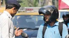 'Helmet usage up by 4% in Dec'