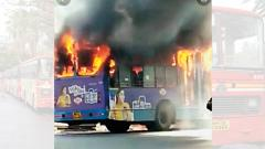 PMPML bus catches fire; committee fails to find solution
