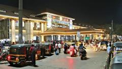 Railways decorates main building with 85 LED bulbs